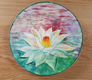 Freehold Lotus Flower Plate